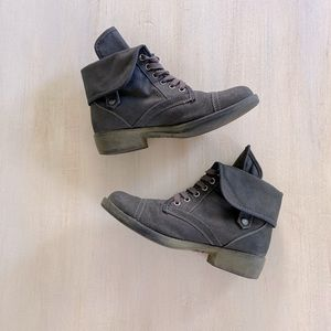 Rocketdog vegan leather gray lace up ankle boots 7